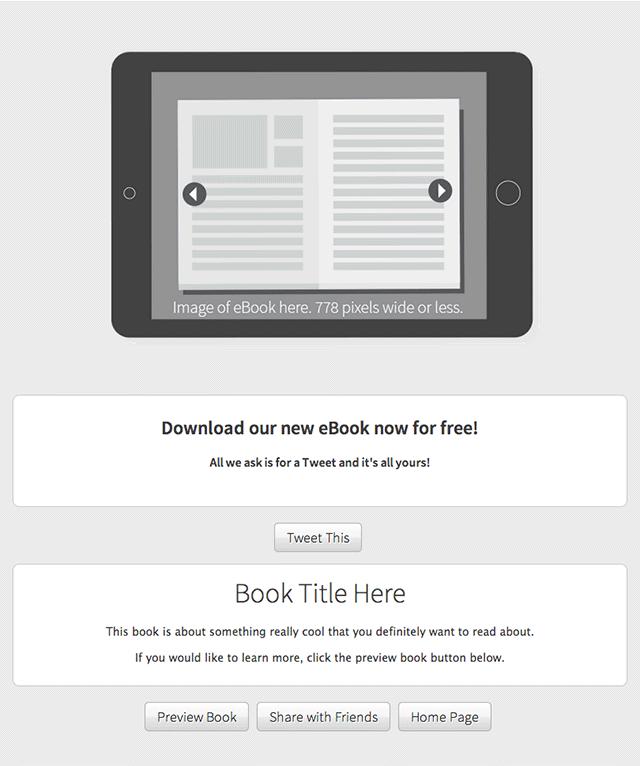 Tweet to Download eBook Template