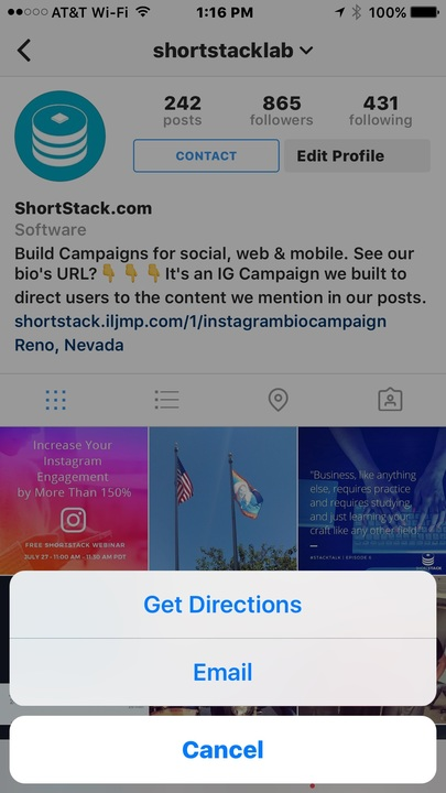 How to set up an instagram business profile shortstack support get familiar with instagrams new insights panel ccuart Gallery