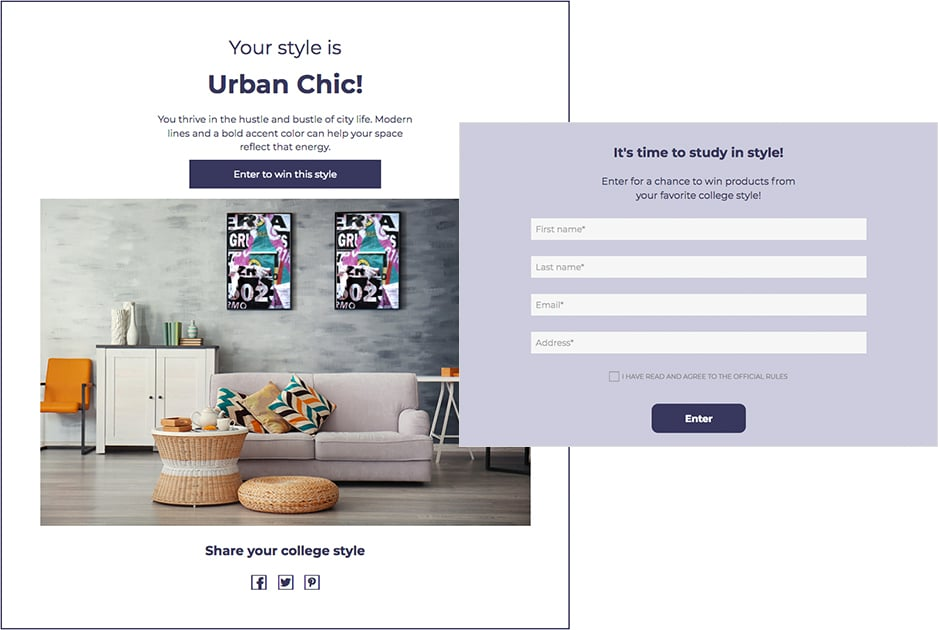 How A Global Furniture Brand Used A Personality Quiz To Collect More Than 175 000 Leads Shortstack