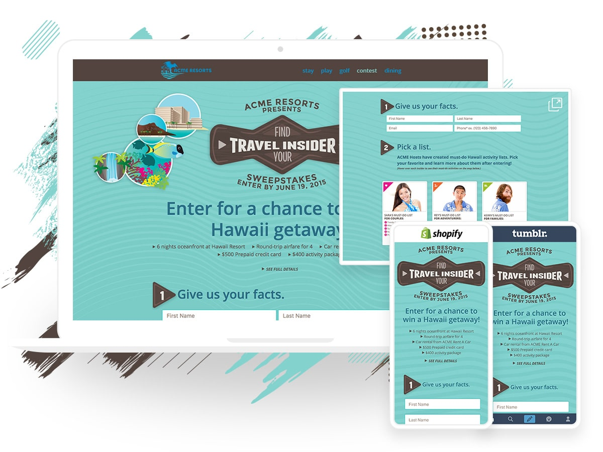 Get more views on your contests, giveaways, and landing pages