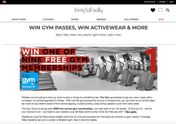 Contest Marketing Example - Gym