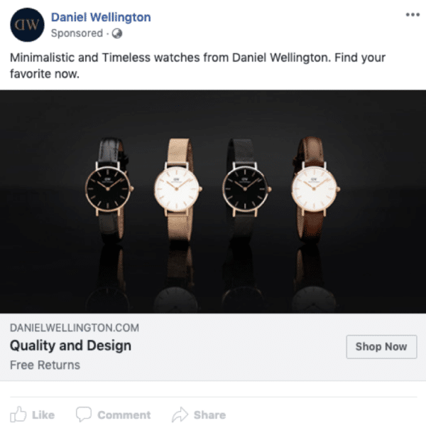 13 Examples of eCommerce Facebook Ads That Will Inspire Your